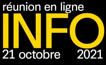Soirée d'information en ligne - jeudi 21 octobre